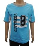 Wholesale Boys B-Essential Short Sleeve T-Shirt Top Outsiders 8 Print